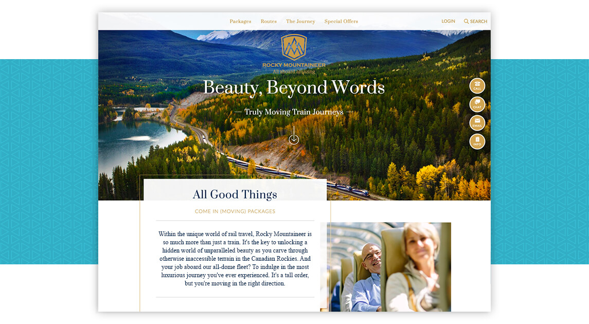 Rocky Mountaineer Drupal Website