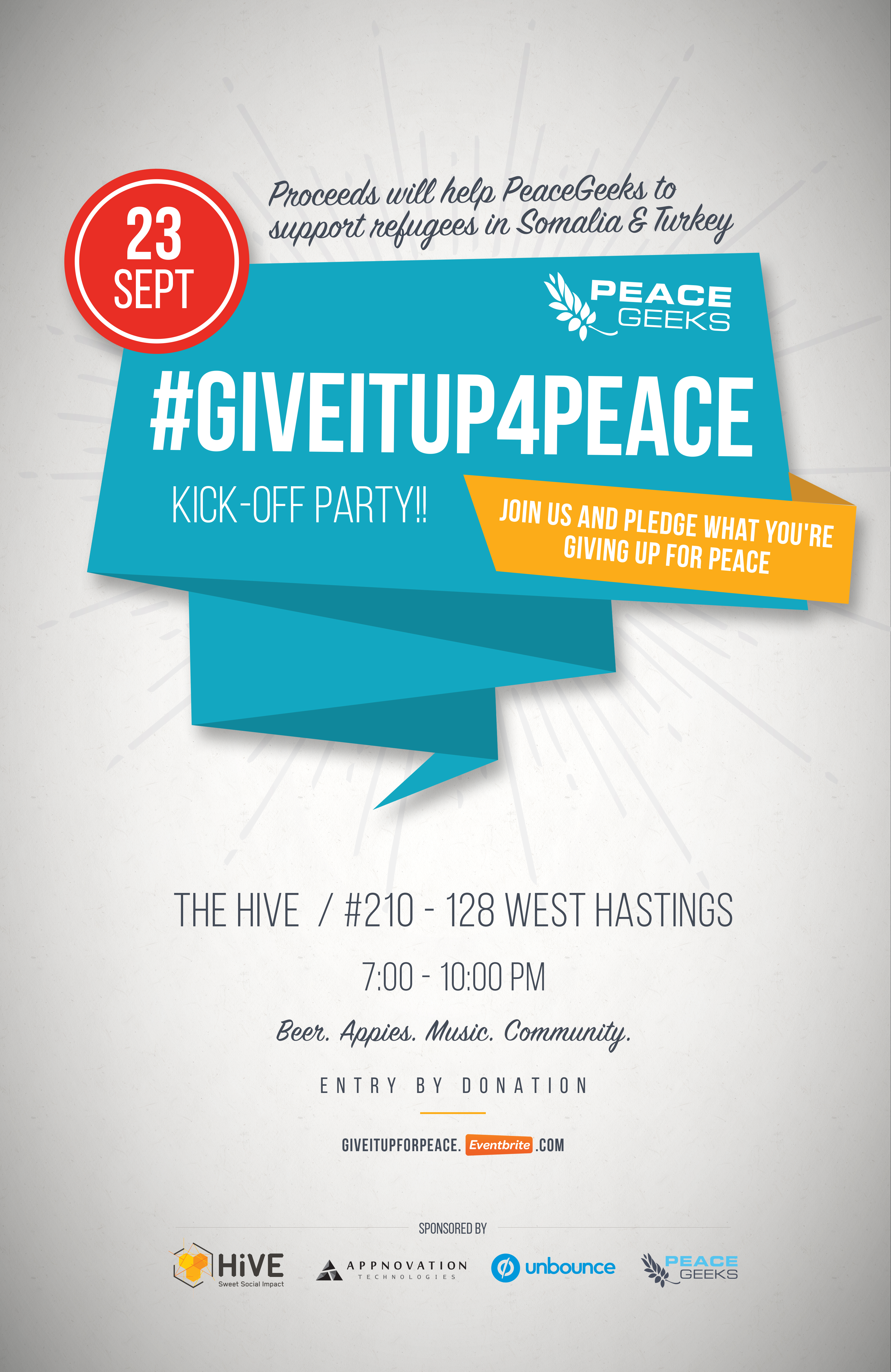 #Giveitup4peace Kick-Off Party