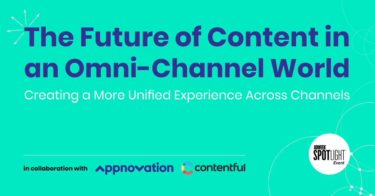 Adweek, Appnovation & Contentful Webinar