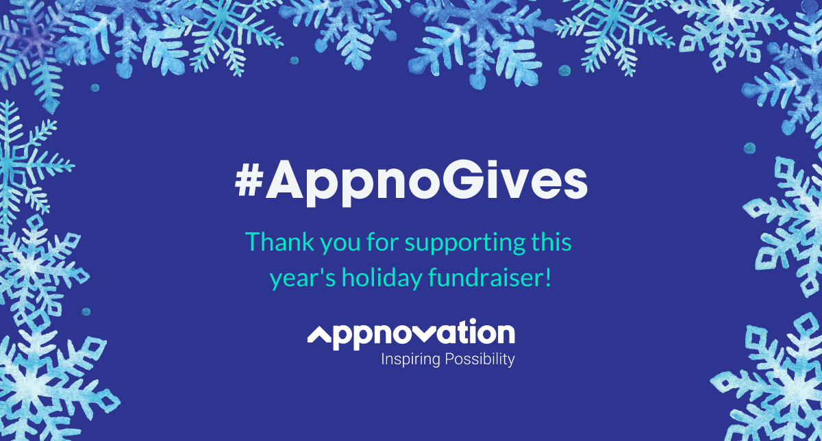 Giving Back With the Appnovation Holiday Fundraiser