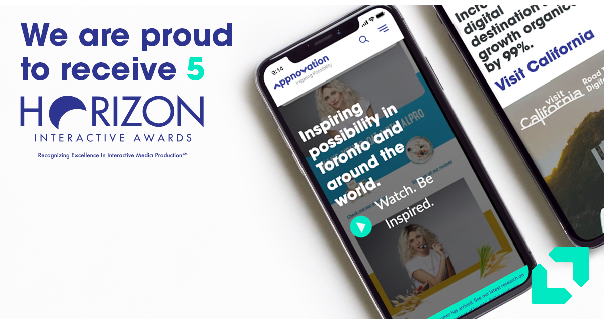Appnovation Wins Five Horizon Interactive Awards at the 2020 Competition