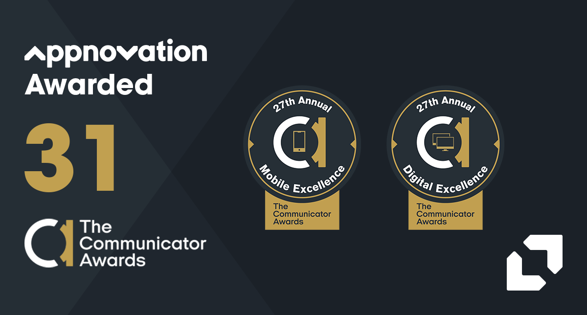 Appnovation Awarded 31 Communicator Awards in Website and Mobile Categories