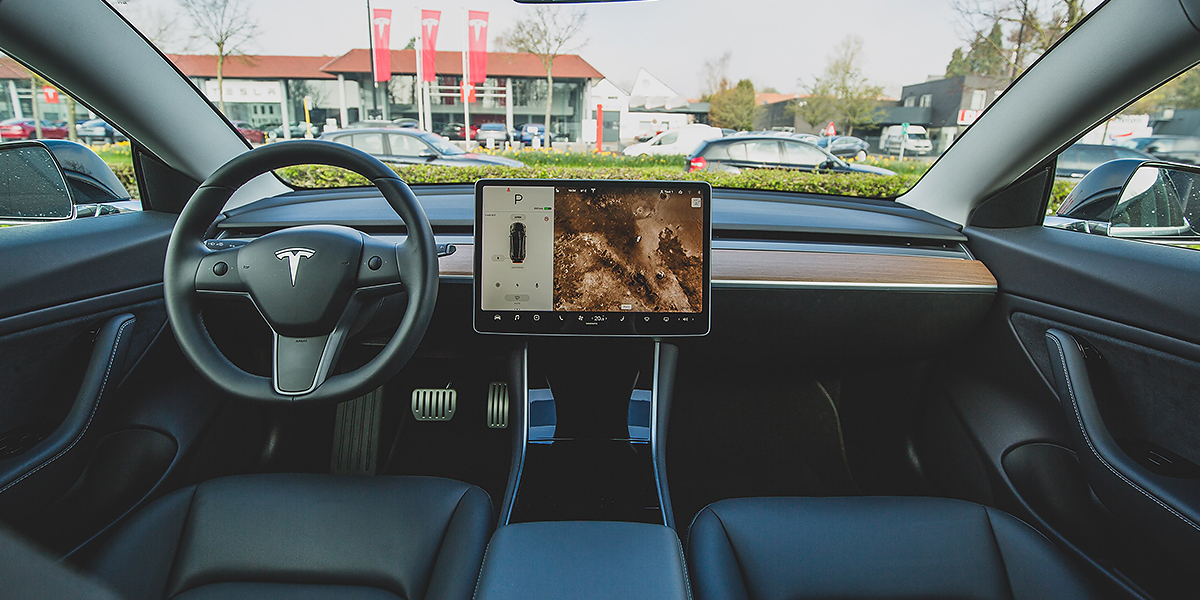 Digital strategy and UX in action on a car dashboard boost customer experience