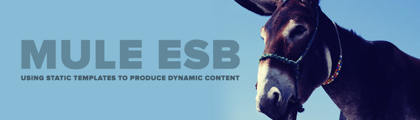 Mule ESB: Using Static Templates to Produce Dynamic Content