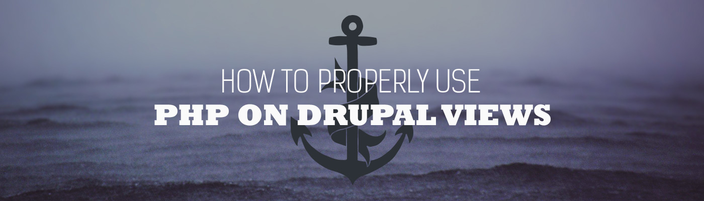 How to properly use PHP on Drupal views fields | Appnovation