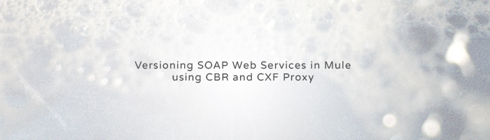 Versioning SOAP Web Services in Mule using CBR and CXF Proxy
